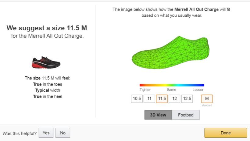 Model buta w 3D - Shoefitr
