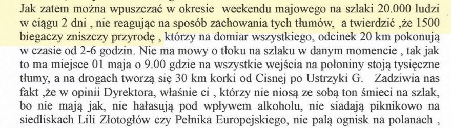 Zablokowanie Rzeźnika - protest społeczności Cisnej