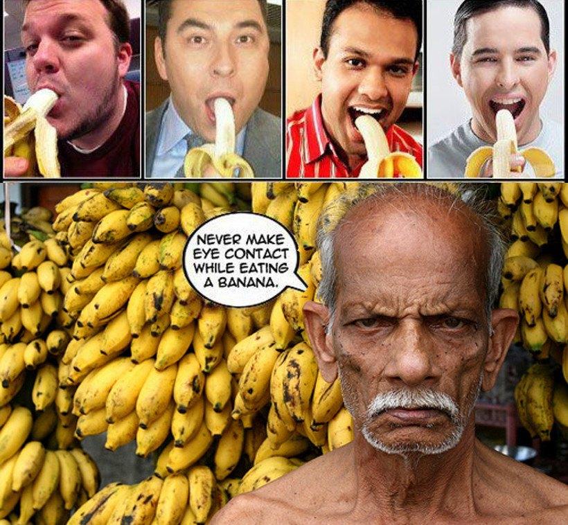 Jak jeść banana - podstawowa wskazówka
