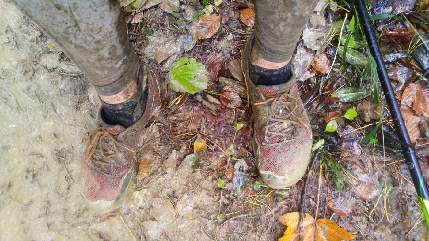 Moja Błotowyna - buty po 30 kilometrach