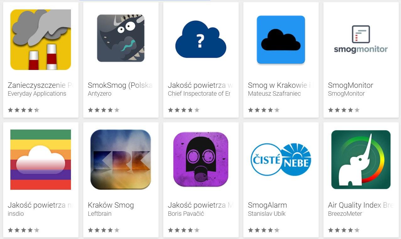 Bieganie w smogu - aplikacje mierzące zanieczyszczenie