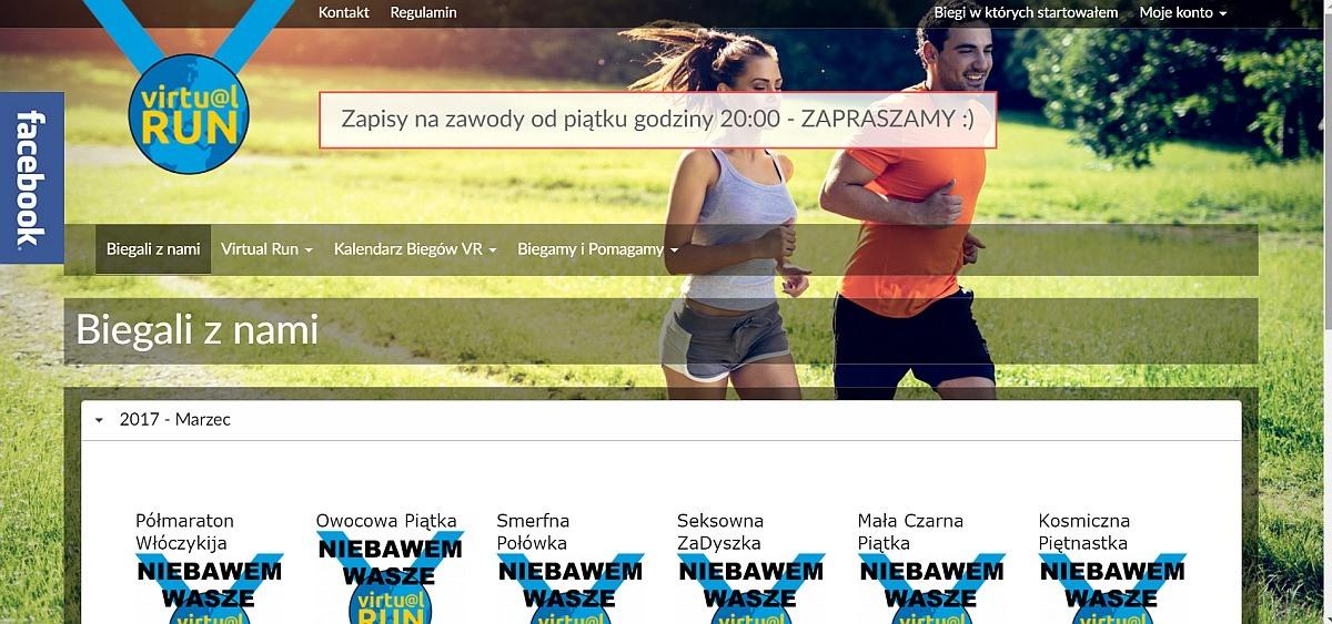 Virtualrun.com.pl zaprasza pierwszych biegaczy...