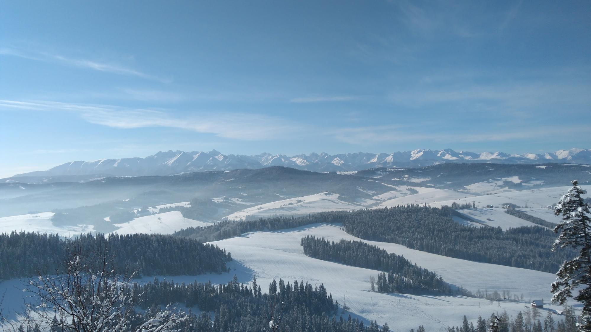 Zimowy Ultra Janosik. Żor - panorama Tatr