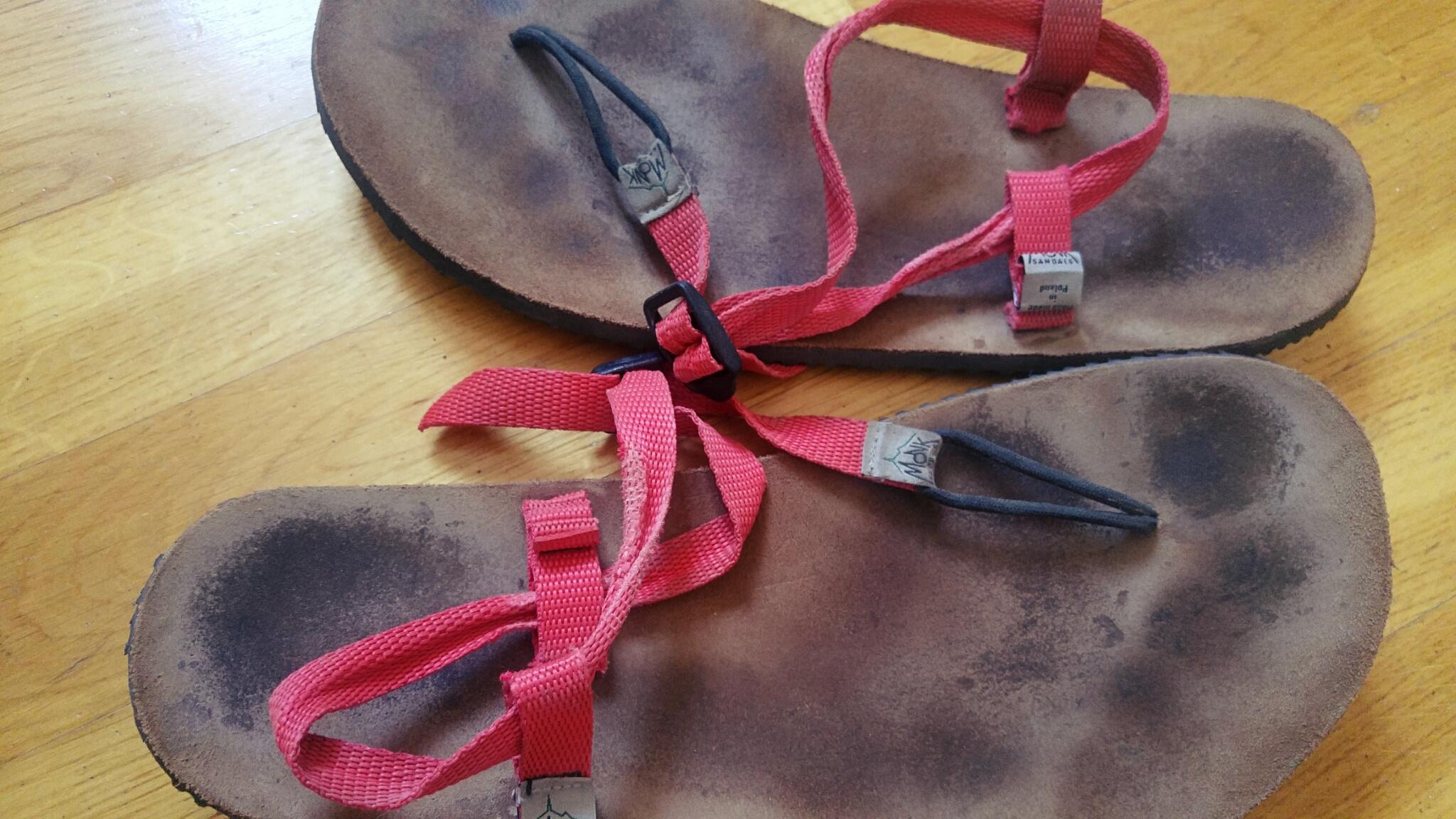 Monk Sandals - zużycie po dwóch sezonach