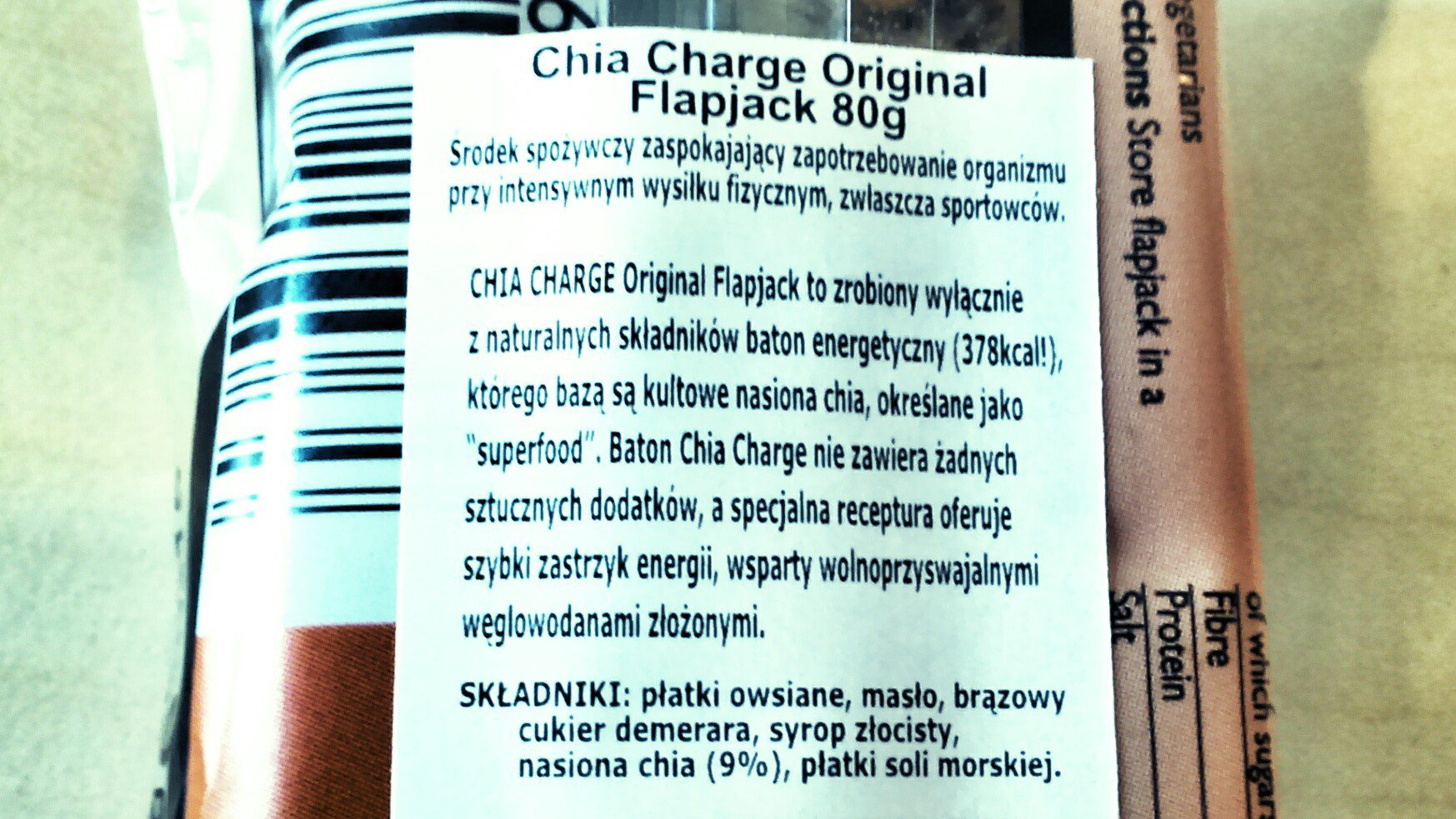 Chia Charge - skład batonów