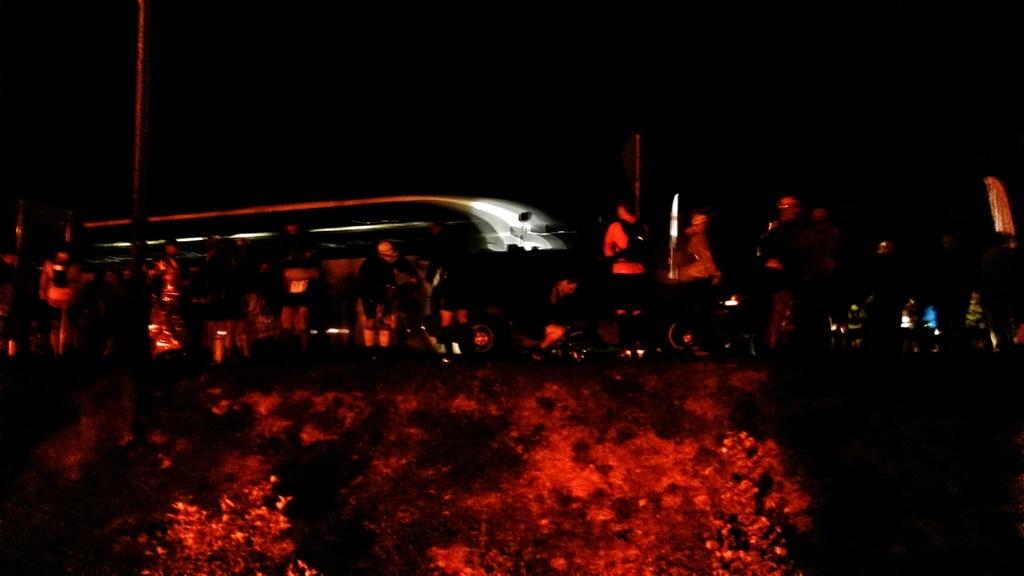 Bieg Rzeźnika - zespoły w drodze na miejsce startu